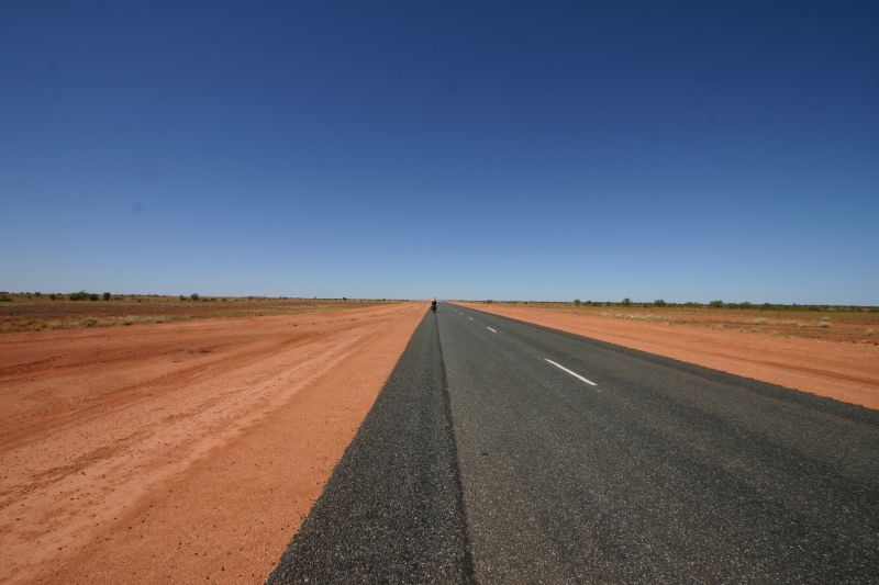 road stretching to the horizon